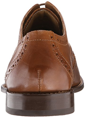 Florsheim Men's Montinaro Wingtip Dress Shoe Lace Up Oxford, Saddle Tan, 11.5 Medium