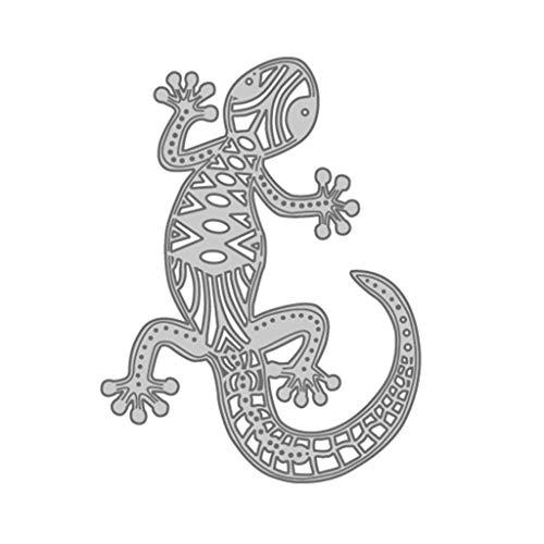 XIANZI Gecko Metallschneiden Stanzschablonen Prägeschablonen Schablonen Stanzmaschine Embossing Für DIY Karten Scrapbooking Geschenk Sammelalbum Deko