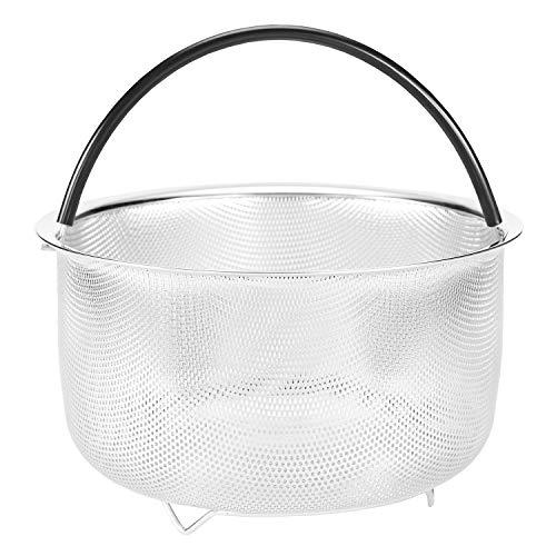 Food Vegetable Steamer Insert Basket for Instant Pot Steamer Basket 304 Stainless Steel Pans Accessories 8qt 6 Quart Available Pressure Cooker Rice Egg Vegetable Meat Silicone Handle Dishwasher Safe
