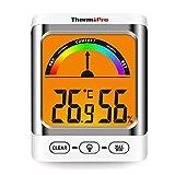 ThermoPro湿度計 温度計 デジタル 温湿度計室内 室温計 LCD大画面 最高最低温湿度表示 バックライト機能付き 7段階の快適度目安表示 TP52