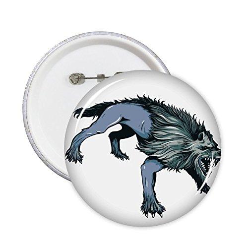 Bang Cheetah Animal Art Grain Illustratie Patroon Ronde Pin Badge Knop 5 stks XXL