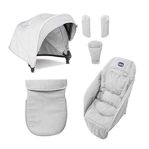 chicco color pack special edition - kit di accessori per chicco urban passeggino, colore: grigio (moonlight)