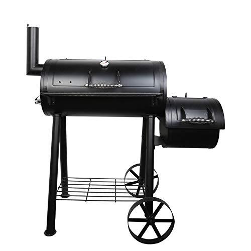 Uten BBQ Grill, Parrilla de Gas para Barbacoa, Ahumador para Jardín al Aire Libre, Carrito de Barbacoa con Ruedas Grandes y Medidor de Temperatura para Picnic de Camping