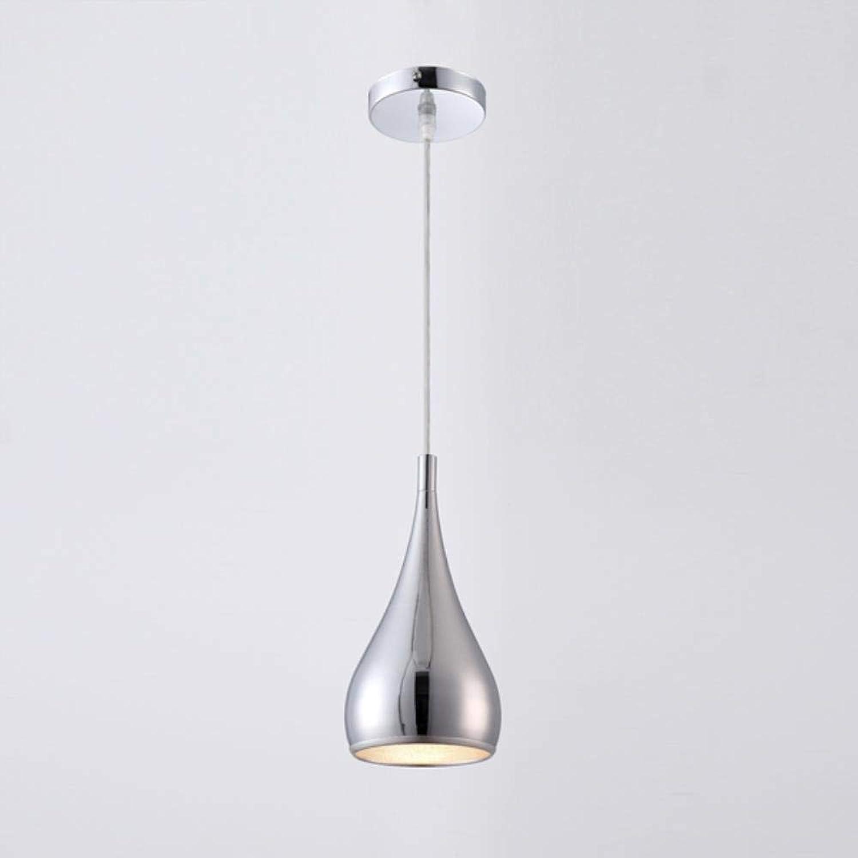 Modernes Restaurant Pendelleuchten Minimalist LED-Handlampe Esszimmer hngende Lampen Innendekoration Hauptbeleuchtung Lamparas, Chrom,