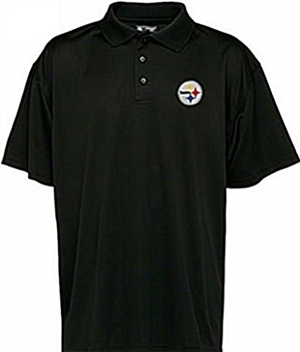 Pittsburgh Steelers NFL Mens Team Apparel Polo Golf Shirt Black Adult Sizes (L)