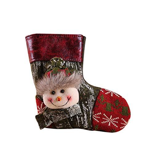 ITCHIC Grande Borsa Regalo di Natale Calza Natalizia Regalo di Babbo Natale Decor Christmas Holiday Ornament Decoration Holiday Holiday Sacchetto Regalo di Natale Ornamenti Ciondolo Natale