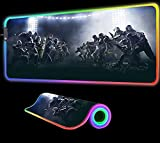 Gaming Mouse Pads Game Tom Clancy's Rainbow Six Siege Large RGB Mouse Pad Gaming LED Luminous Ergonomic for Notebook Pc Laptop Computer 31.49 inch x12 inch x0.15 inch