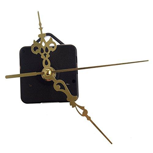 SODIAL(R) Maquinaria De Reloj Mecanismo Eje Horario Cuarzo Munitero Segundero Dorado