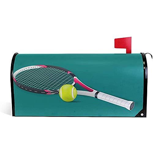Magnetisch Mailbox,Tennisball Wetterfeste Magnetische Briefkastenabdeckungen Für Hausgartendekoration 45.8x52.6cm