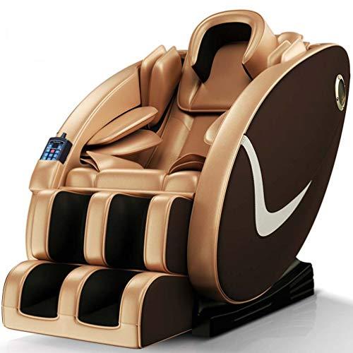 ZKHD Silla De Masaje De Cápsula De Espacio Totalmente Automática 220V, Cuerpo Entero Multifuncional Masajeador Eléctrico Masajeador Sofá, Paquete De Airbag,Oro