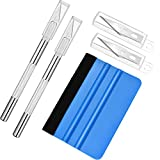 Jovitec Vinyl Squeegee Hobby Knife Set Wallpaper Smoothing Tool Installation Film Application Kit Craft Cutter Knife for Car Window Film Cutting Art Creation, 13 Pieces Totally