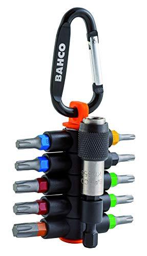 Bahco Juego de 10 Puntas TORX + Adaptador magnetico de liberacion rapida, Negro, 0