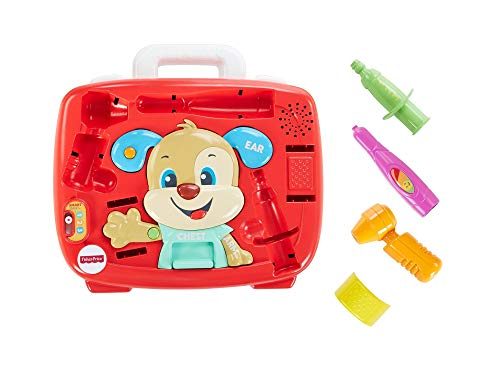 Fisher-Price FTH19 Laugh and Learn Puppy's Check Up Kit Doctors Rollenspielzeug Set für Kinder sprechen ab 18 Monaten