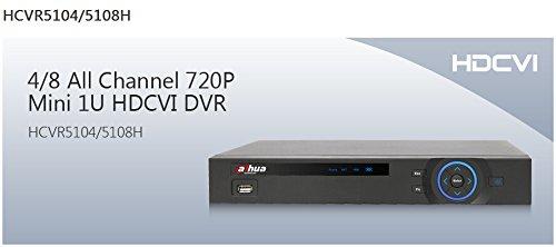 DaHua bondwl HCVR5104H 4 canales todos los canales 720 P Mini 1U HDCVI DVR con 4 canales síncrono reproducción en tiempo real, rejilla interface y funciones de búsqueda inteligente