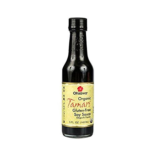 Ohsawa Organic Tamari, 100% Wheat-Free, Traditionally Brewed in Cedar Kegs for Extra Flavor - Japanese Soy Sauce, Low - Sodium, Gluten-Free, Vegan, Kosher - 5 oz