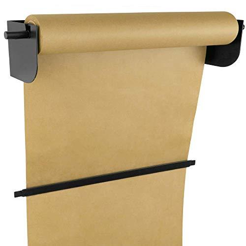 PrimeMatik - Wand Rolle Halter für Papier Rollen. Spender für Packpapier in Rollen bis 62cm 24
