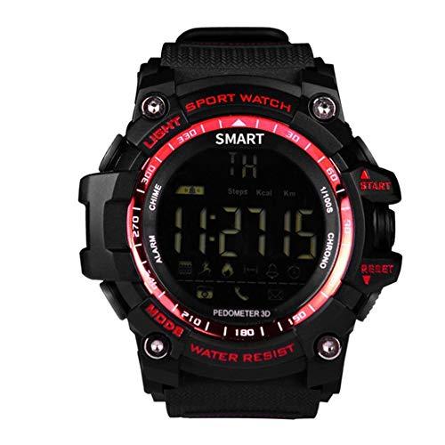 DRF Ex16 Ip67 Reloj Inteligente a Prueba de Agua con Esfera Luminosa Reloj Deportivo Rojo