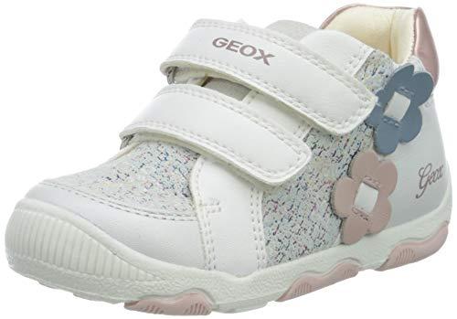 Geox Baby Mädchen B New BALU' Girl A Sneaker, Weiß (White C1000), 23 EU
