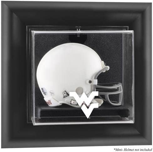 West Virginia Mountaineers Black Helm Framed Special price for a limited time Mini Wall-Mountable Long Beach Mall