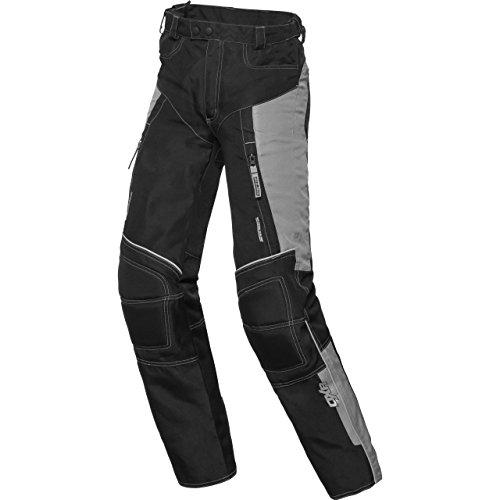 DXR Motorradhose Kinder Sommer Textilhose, Verbindungsreißverschluss, 2 Einschub-, 2 Gesäßtaschen, Taschen für Knie- und Hüftprotektoren, Protektoren nachrüstbar, Grau, 158-164