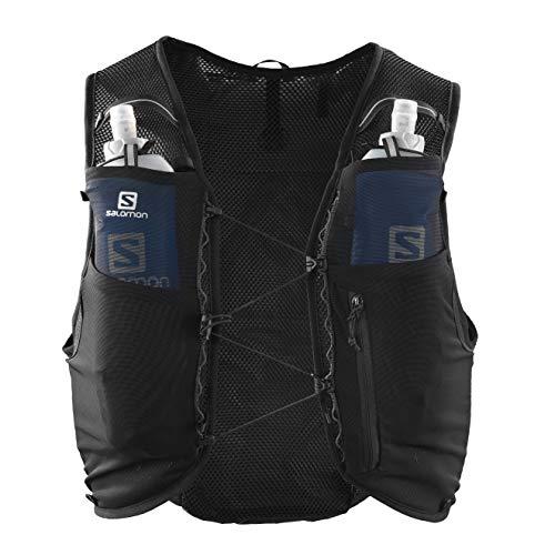 Salomon Hydration Vest, 2 Soft Flask Bottles 500 ml Included, ADV Hydra Vest, Black, Size M, LC1340800