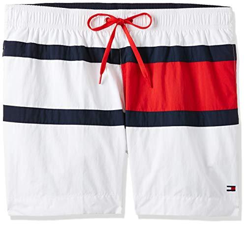 Tommy Hilfiger Herren Medium Drawstring Shorts, Weiß (Pvh Classic White), Large