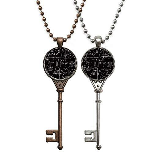 Matrix Mathematische Formeln, Wissenschaft, Taschenrechner, Schlüssel-Halskette, Anhänger, Schmuck, Paar-Dekoration