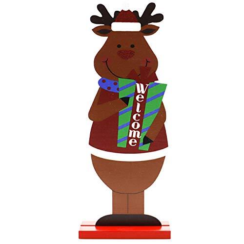 langchao Natale Nuove Decorazioni Festive Ornamenti di Figure in Legno Ornamenti di Stampa Creativa Desktop