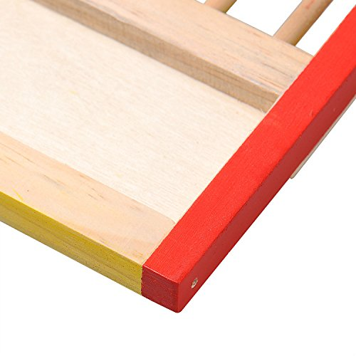 Kleintier Aktivität Spielzeug Aktivität Hamster Turnhalle Rutsche aus Holz - 7