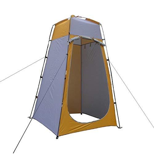 SMAA Pop-up Tente de Douche, vestiaire extérieur Toilettes confidentialité Pop Up Camping Dressing Abri Portable téflon revêtement de Tissus, Installation Facile, avec Le Sac Pliable Carry,Jaune