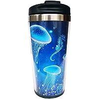 Hasdon-Hill Magic Glowing Jellyfish Underwater Undersea World Travel Mugs