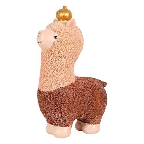 Cutfouwe Preciosa De Alpaca Hucha para Niñas Resina Alpaca Hucha Juguetes Kid Dinero Bancos Alcancías Mejor Cumpleaños Navidad Regalos para Los Niños Gran Decoración del Hogar,L