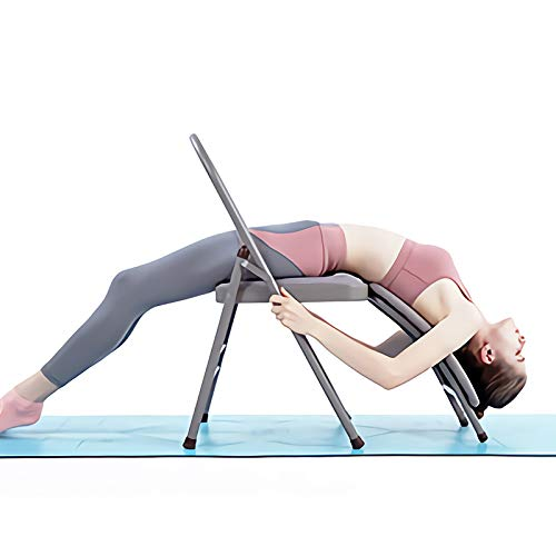 CIGOCIVI Yoga Auxiliary Chair with Lumbar Back Support Foldable Balance Handstand Training Tool