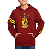 Elbenwald Harry Potter Gryffindor de impresión Cresta Capucha Delantera y Manga de...