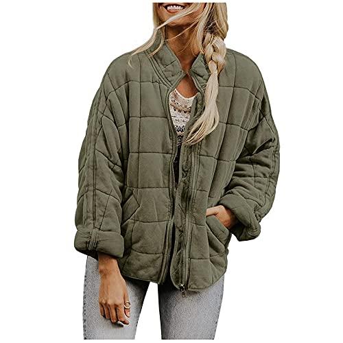 CCOOfhhc Giacca per le mezze stagioni da donna, impermeabile, calda, giacca funzionale, traspirante, leggera e calda, con cappuccio e cappuccio, verde, L