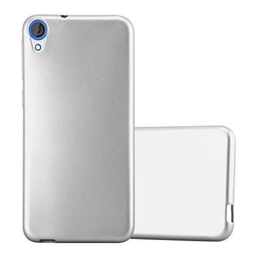 Cadorabo Funda para HTC Desire 820 en Metallic Plateado - Cubierta Proteccíon de Silicona TPU Delgada e Flexible con Antichoque - Gel Case Cover Carcasa Ligera
