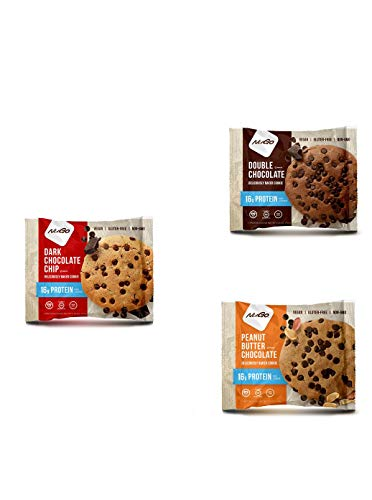 NuGo Protein Cookie Vegan, Gluten Free, Mixed Selection 100g - Pack of 3
