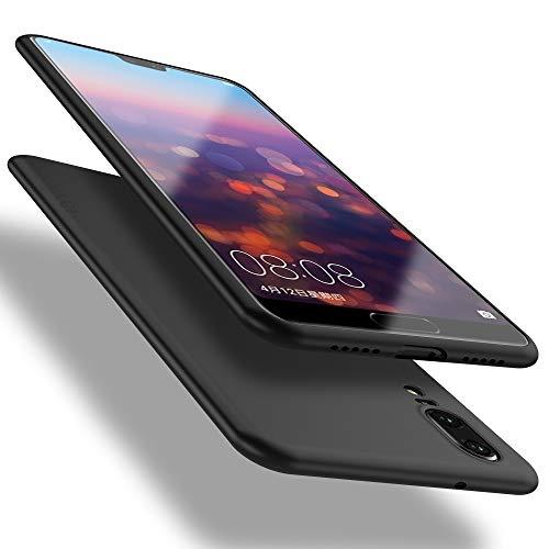 X-level Huawei P20 Hülle, [Guadian Serie] Soft Flex Silikon Premium TPU Echtes Handygefühl Handyhülle Schutzhülle für Huawei P20 Hülle Cover [Schwarz]