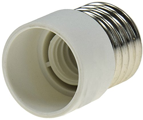 Adapter für Leuchtmittel 230V Kunststoff Fassung Lampenadapter Lampensockel für LED Lampen, Glühbirnen, Energiesparlampen Keramik Kunststoff … (E27 auf E14)