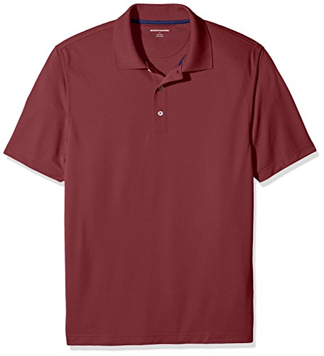 Amazon Essentials Men's Regular-Fit Quick-Dry Golf Polo Shirt, Port, Large
