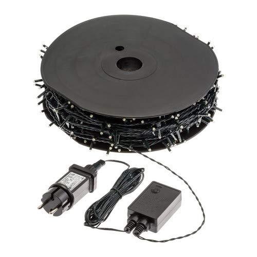 LuminalPark Catena 70,4 m, 1000 miniled Plus, con Memory Controller, Cavo Verde, 30V, Esterno