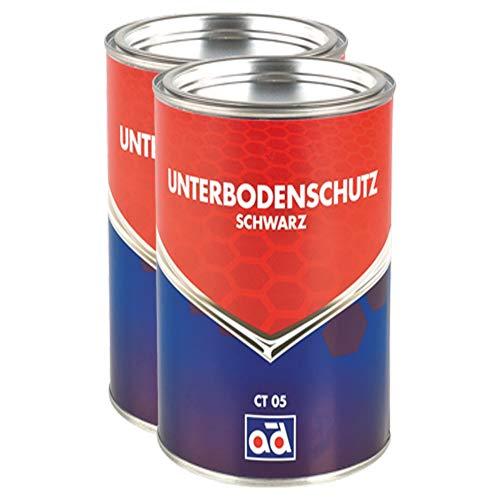 AD Chemie 2X Unterbodenschutz 2,5kg Schwarz Pinseldose Asbestfrei Kautschuk Lange Wirksamkeit Gegen Rost Struesalz Steinschlag 000306orca