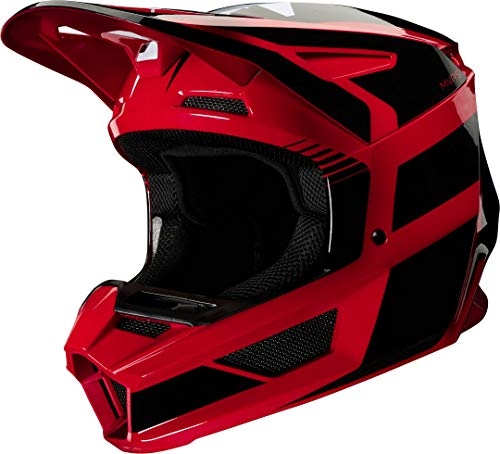 FOX V2 Hayl - Casco de Ciclismo, Color Rojo, Rojo, Large