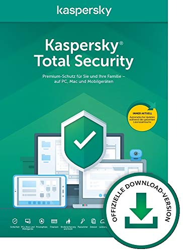 Kaspersky Total Security 2020 | 3 Geräte | 1 Jahr | Windows/Mac/Android...