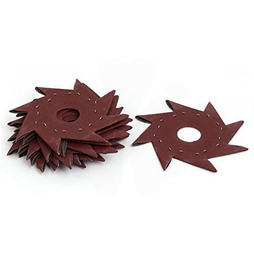 Great Deal! 150 Grit 5 Pinwheel Shaped Octagonal Abrasive Sandpaper Sanding Buffing Tool 10pcs by H...