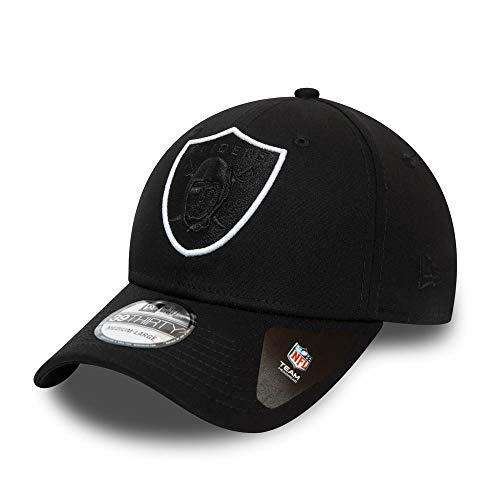 New Era Las Vegas Raiders Cap 39thirty Basecap NFL American Football Kappe Schwarz - S-M (6 3/8-7 1/4)