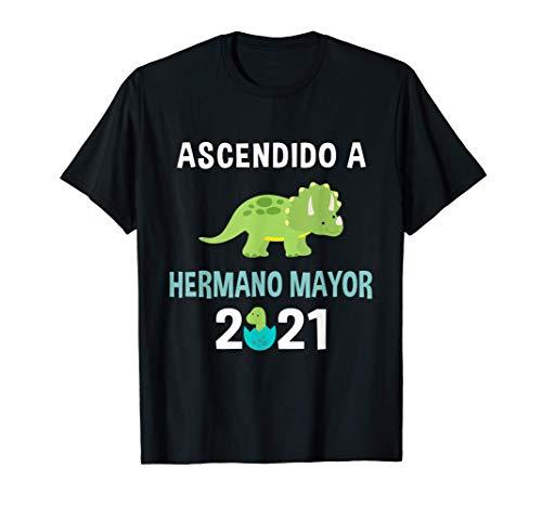 T-Shirt Ascendido A Hermano Mayor 2021 Dinosaurio Camiseta