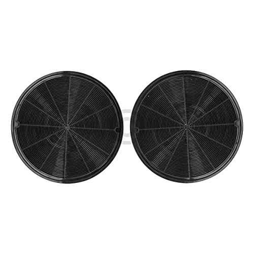 Kohlefilter kompatibel mit ELECTROLUX 902980046/4 196mmØ EFF62 für Dunstabzugshaube 2Stk