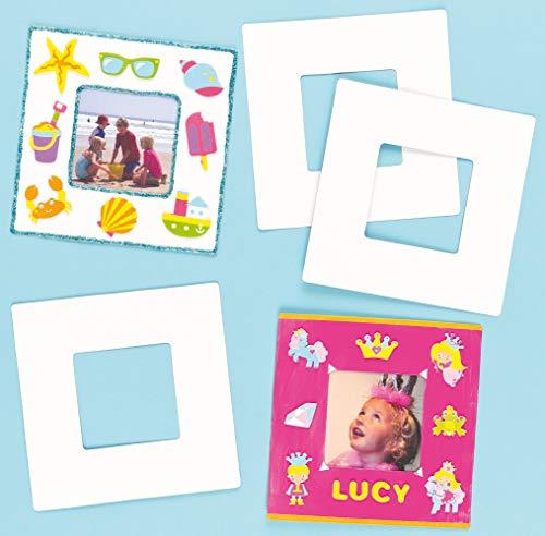 Baker Ross ET450 Ross Papp-Bilderrahmen 17cm x 17cm - zum Basteln und Bemalen für Kinder ideal als Geschenk - 10 Stück