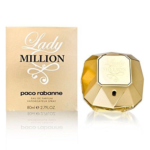 Lady Million by Paco Rabanne Eau De Parfum Spray for Women, 2.70 Ounce: PACO RABANNE